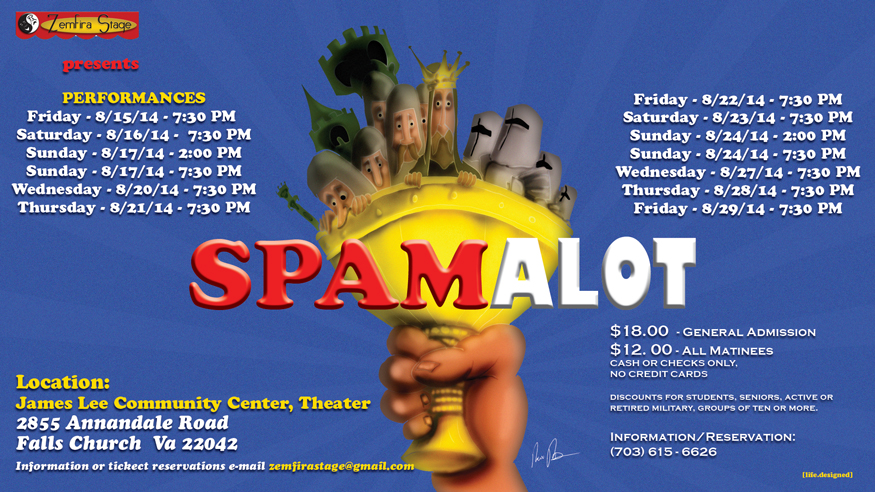 Spamalot-poster online